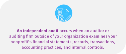 Nonprofit independent audit definition
