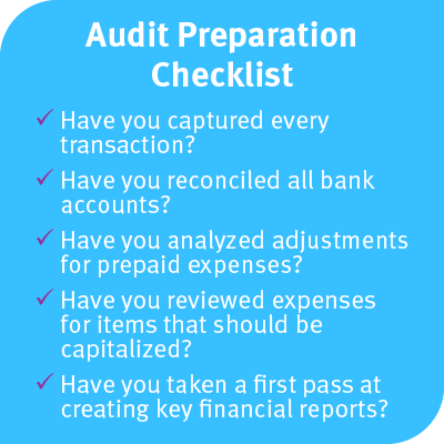 Nonprofit audit preparation checklist